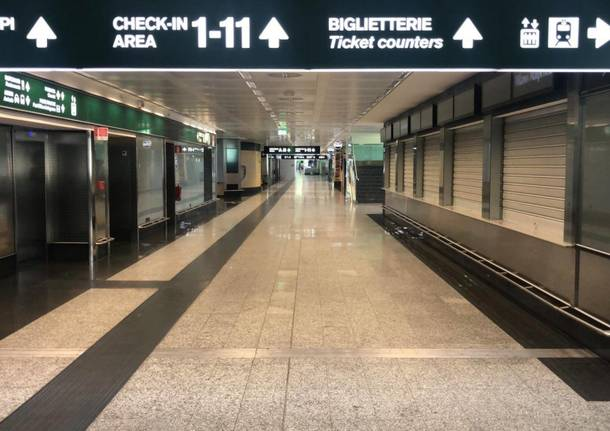 The historical photos of Malpensa T1 closed
