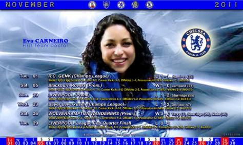 Chelsea November Fixtures 2011