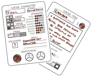 Character Cards for Locus