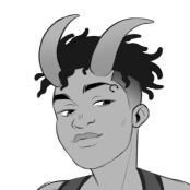 Icon of VJ Harris with Horns
