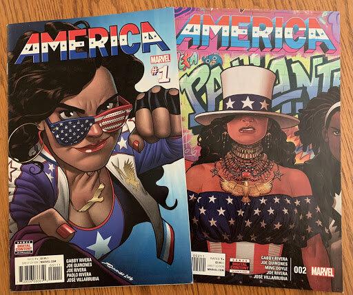 America Comic Book Covers