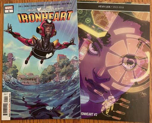 Ironheart Comic Book Covers