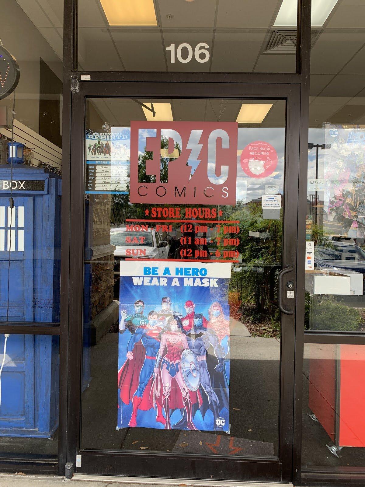 Front door of Epic Comics