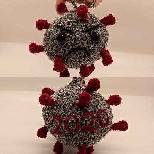 Crocheted Covid Molecule