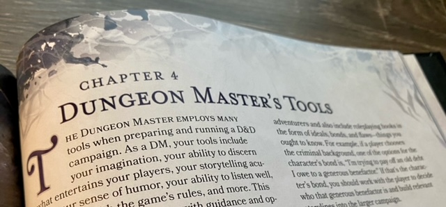 Chapter 4: Dungeon Master's Tools