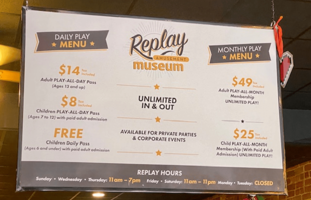 Replay Prices