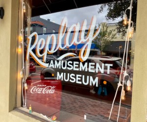Front window reads Replay Amusement Museum