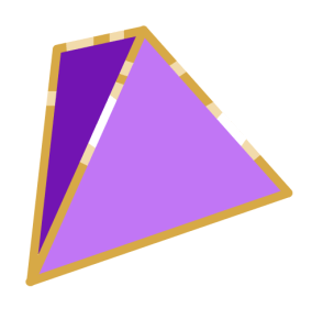 Digital drawing of a d4
