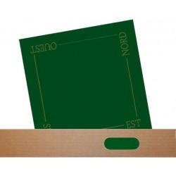 tapis de cartes suedine verte 60cm