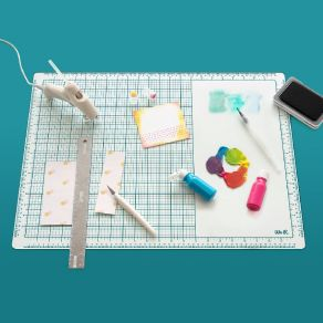tapis de decoupe en verre mixed media glass mat