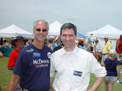 GOP Commitee Member Rudy Burgess with A.G. Nominee Ken Cuccinelli