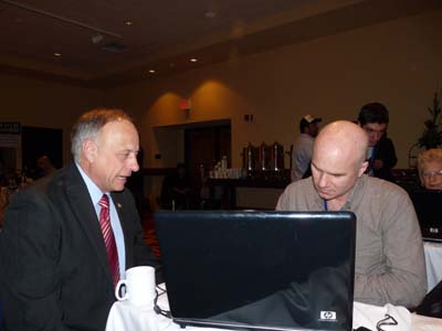 Congressman Steve King in Bloggers Lounge