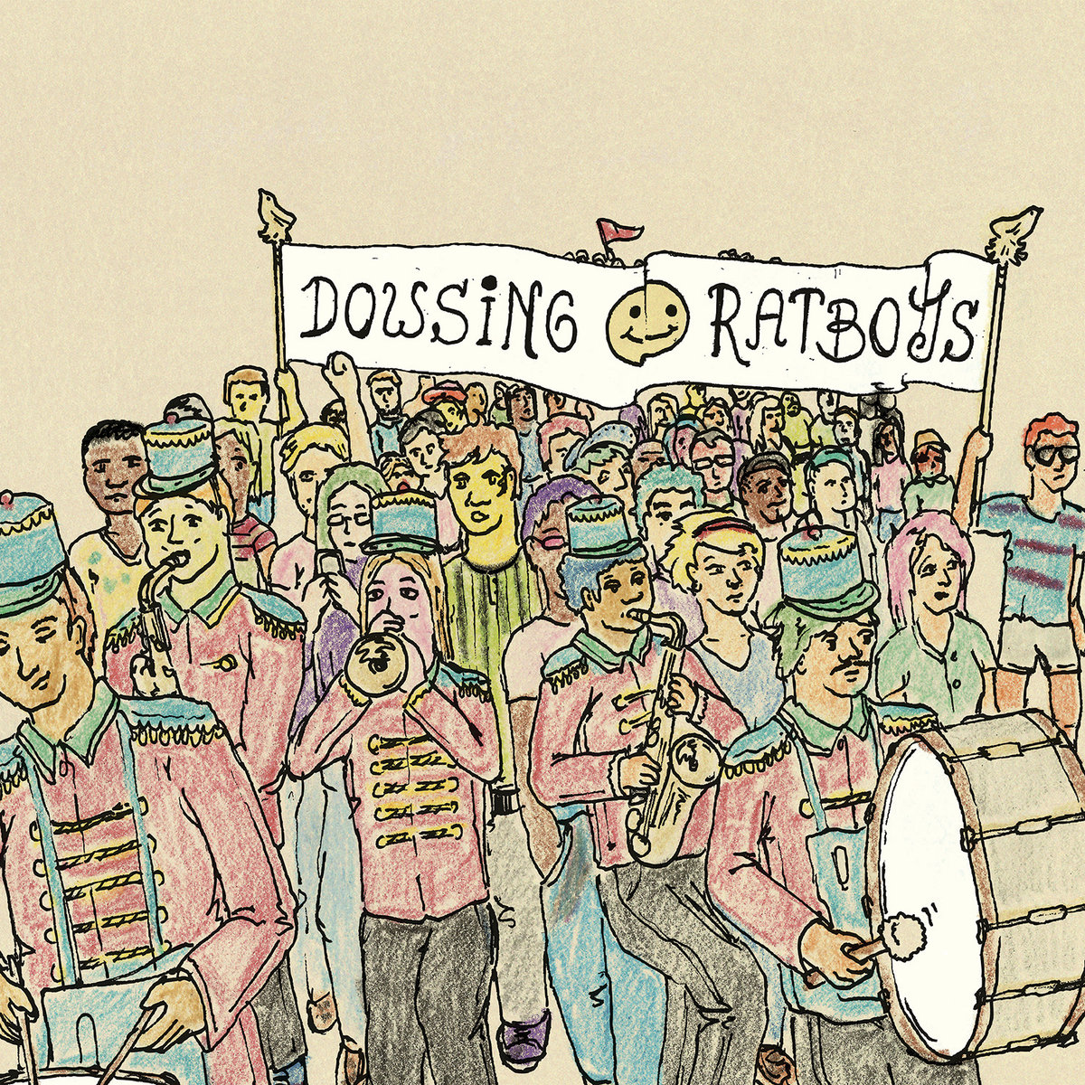 dowsing ratboys split album art