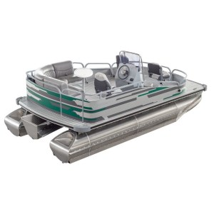 Marin 500 pontoon boat fishing