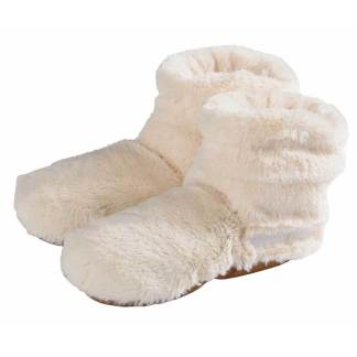 Warmies Slippies Boots Deluxe creme sofftofflor