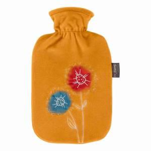 Fashy värmeflaska Flowers med fodral - 2 l