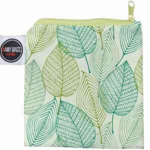 ANYBAGS shoppingkasse Green Leaves - förvaringspåse