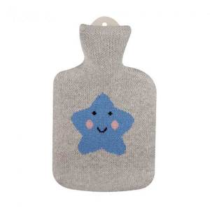 Sänger värmeflaska Little Blue Star - 0,8 l naturgummi