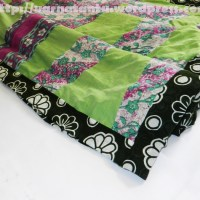 Upcycling Saris into Quilted Blanket cover