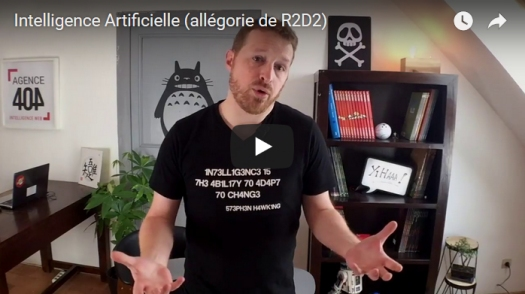 Intelligence artificielle (allégorie de R2D2)