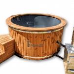 Hot Tub Idromassaggio In Vetroresina Con Stufa Esterna (1)