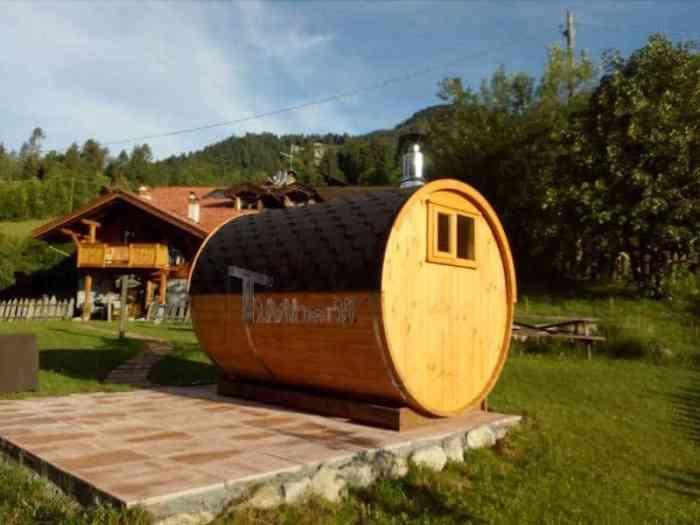 Sauna Rotonda Esterna A Botte, Lara E Nilo, Trento, Italia (3)