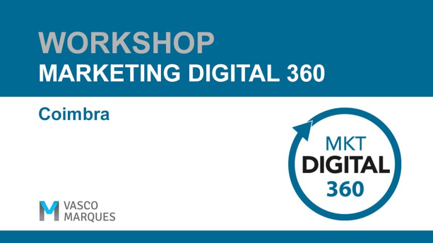 workshop Marketing digital 360 Coimbra
