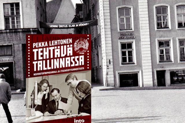 Tehtävä Tallinnassa on toimittaja Pekka Lehtosen uusi kirja, jota hän esittelee myös Työveänkirjallisuuspäivässä Werstaalla tämän kuun lopussa. Lehtonen on Pirkanmaalaisille tuttu muun muassa Hämeen Yhteistyön toimittajana 1986-1988. (Kuva: kirjan kansi, taustalla katunäkymä neuvosto-Tallinnasta, jonka kuvasi Cai Melakoski.