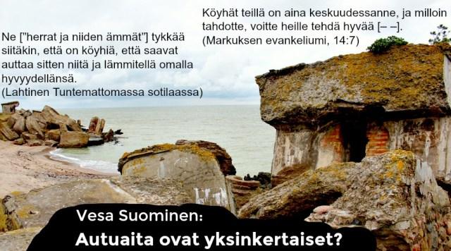 Vasen Kaista julkaisee Vesa Suomisen luokkasuhteiden muutoksia kapitalismin viimeisellä rannalla käsittelevän artikkelin kuudessa osassa. Tämä on kolmas osa. (Kuva: Cai Melakoski)