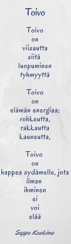 Seppo Koskima omisti piirikokouksessa lausumansa runon Li Anderssonille ja Anna Kontulalle.