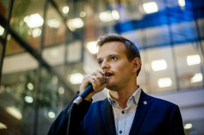 Mikael Malkamäki edusti TAMY:a tilaisuudessa