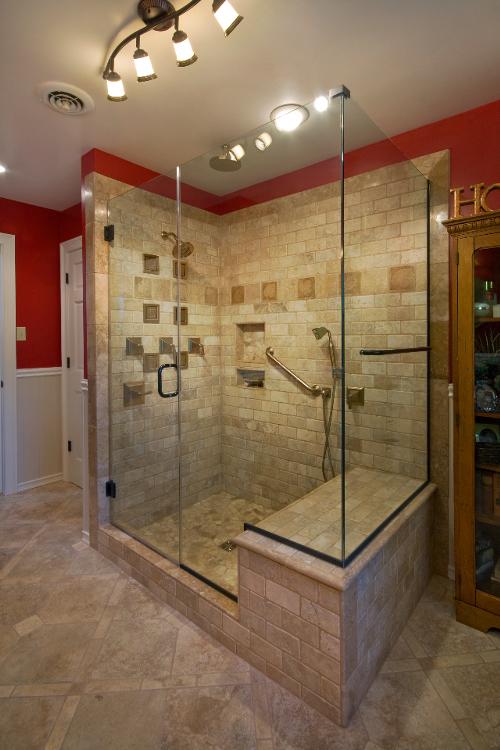 Frameless Shower Door Parade of Homes Richmond Va Bath Remodel by Leo Lantz Construction of Glen Allen Va