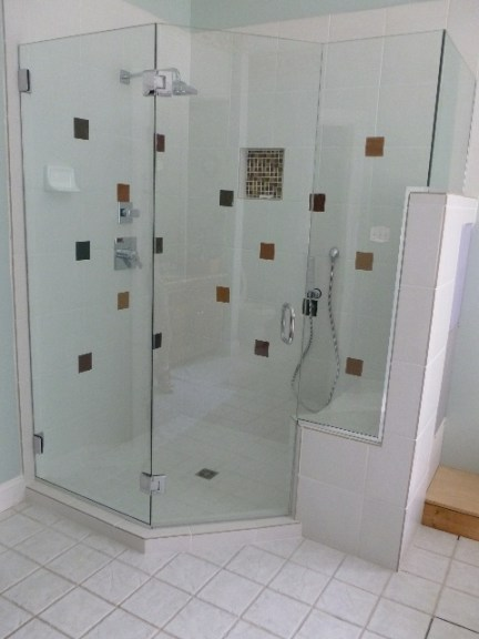 Frameless Shower Door Woodland Pond Va