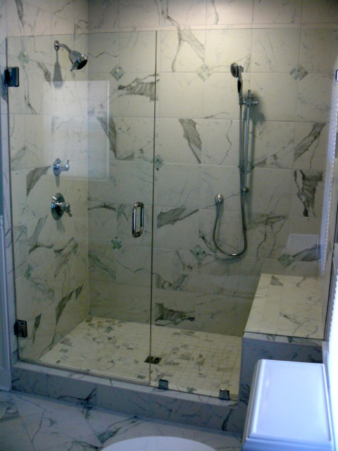Frameless Shower Door With Bench Seat Virginia Shower Door Llc