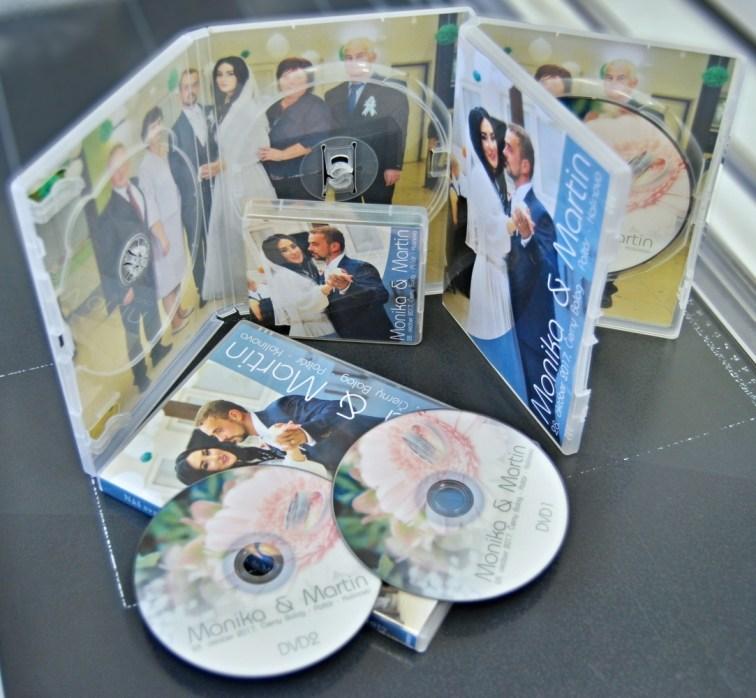 DVD a USB kľúč s videom Vašej svadby