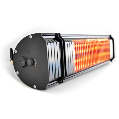 VASNER's Appino 20, infrared patio heater with bluetooth app control, side view