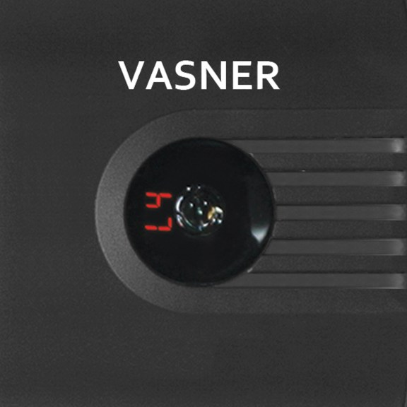 The VASNER Teras carbon infrared heater digital display