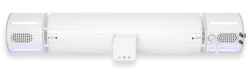 Rückseite Modell WEISS Appino BEATZZ - Infrarot-Heizstrahler Bluetooth mit LED Licht und Musik-Lautsprecher