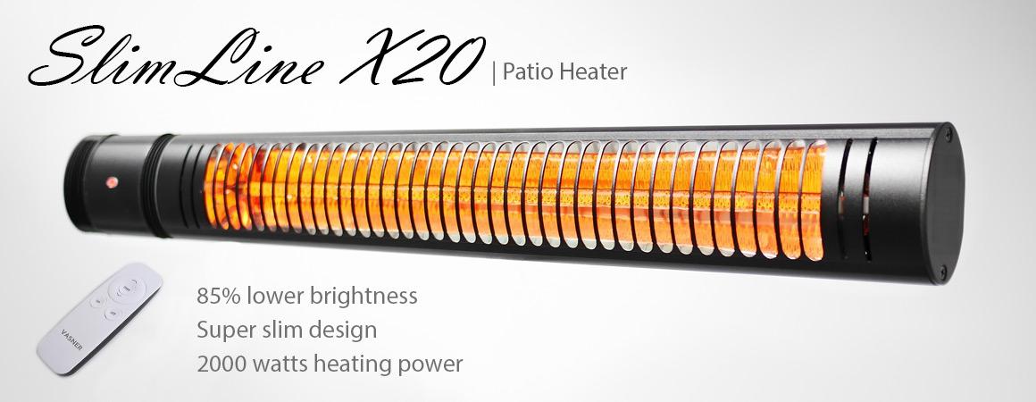 electric infrared heater sleek ip65