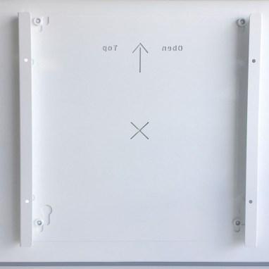 Glass panel heater mount