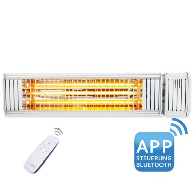 Outdoor infrared heater with smartphone app control