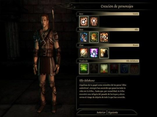 Dragon Age - Editor de Personajes