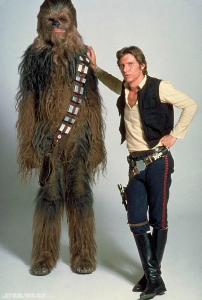 Han y Chewbacca en el episodio IV