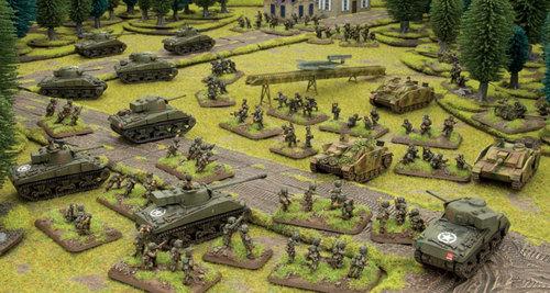 Sherman cargando contra una Grenadierkompanie