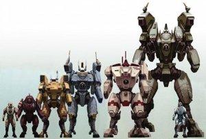 Las distintas armaduras posando... qué poca cosa parece la infantería