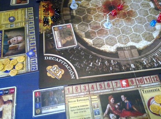 Con la casa Batiatus me enfrento a Solonius en la arena.