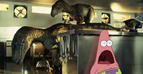 Patricio en Jurassic Park