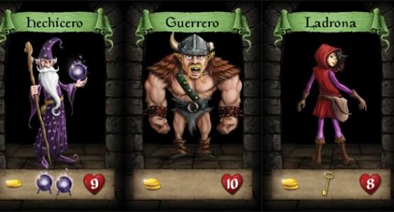 3 personajes del juego