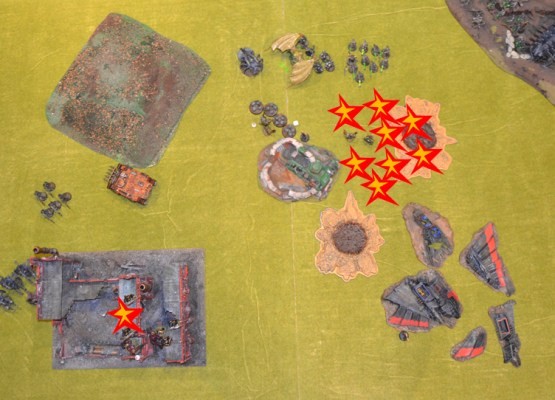 Turno 3 del Caos y Necron