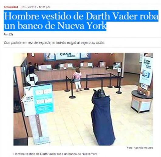 "Darth Vader un pelín ""desesperao"""